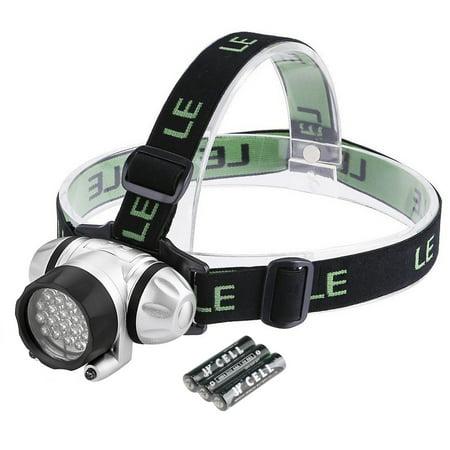 Lighting EVER Super Bright LED Headlamps, 18 White LED and 2 Red LED, 4 Brightness (Best Lighting Ever Lighting Ever Rechargeable Headlamps)
