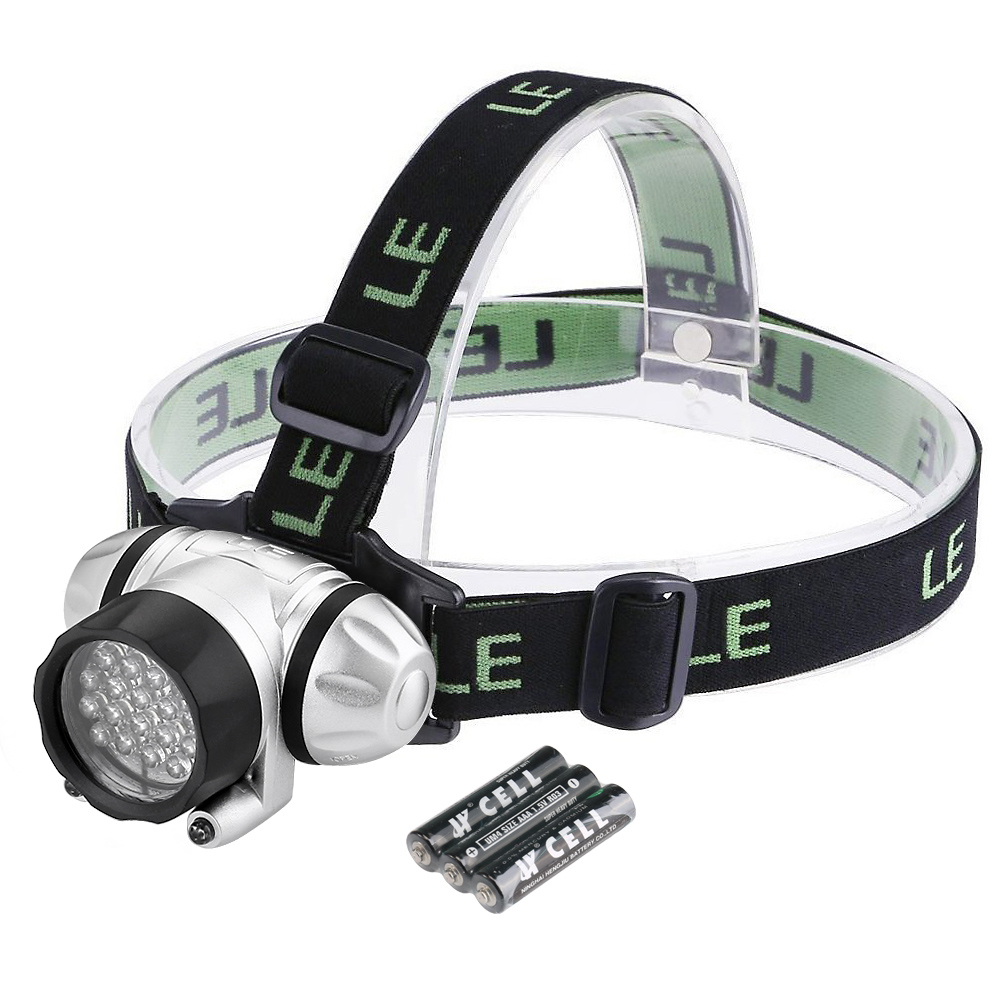 Lighting EVER Super Bright 78lm LED Headlamps, 18 White LED and 2 Red LED Headlight with 4 Brightness Level