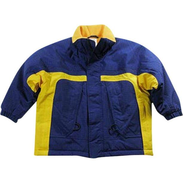 Cherry Tree - Little Boys Ripstop Jacket Blue Yellow / 4