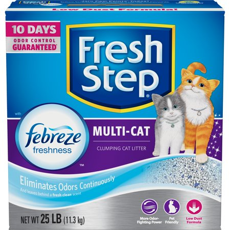 Fresh Step Multi Cat With Febreze Freshness  Clumping Cat Litter  Scented  25 Lbs