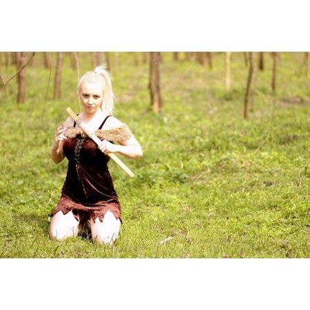 LAMINATED POSTER Wild Warrior Girl Beauty Arc Forest Blonde Poster Print 24 x 36](Blonde Warrior)