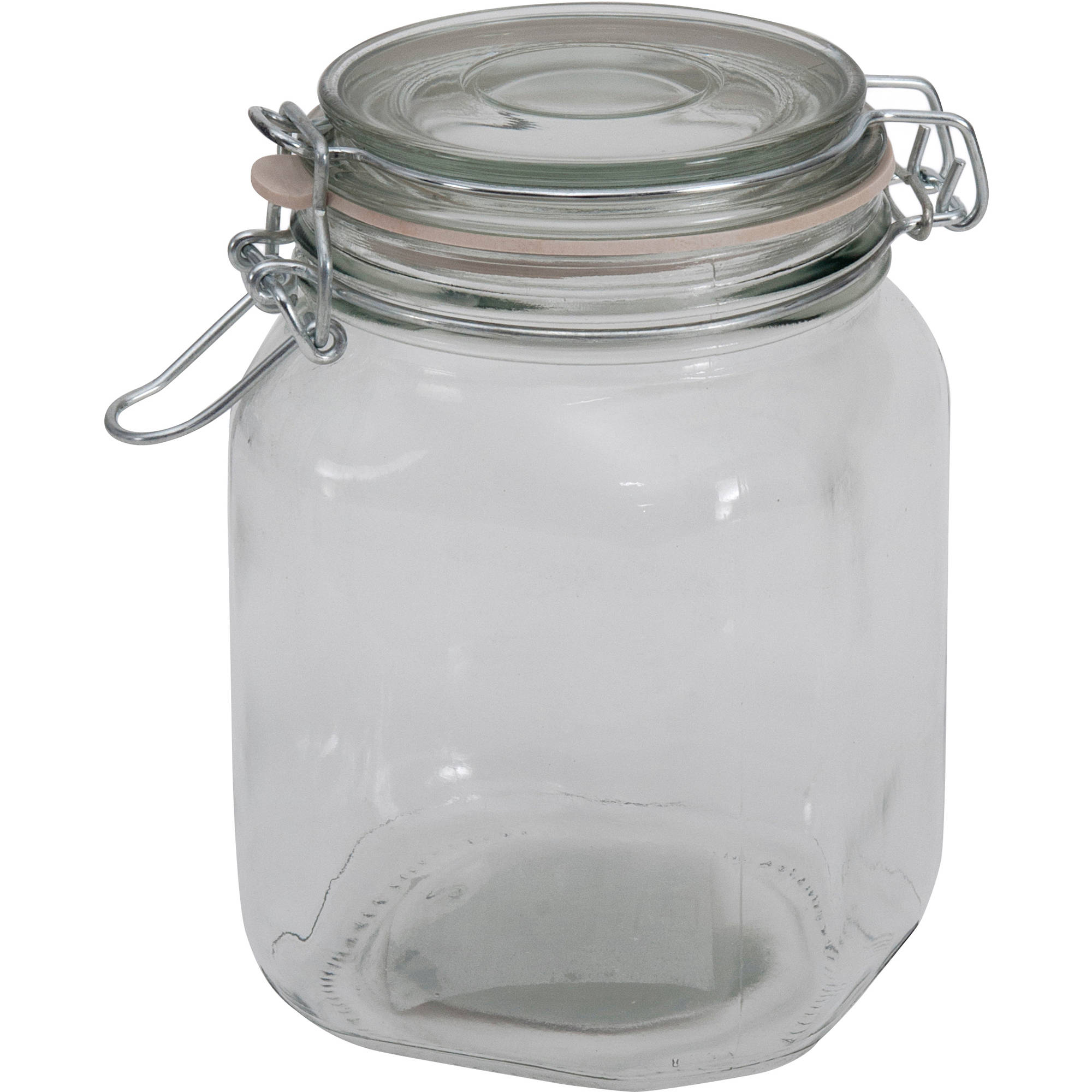 mainstays 38 oz clear glass jar with clamp lid - Glass Containers With Lids
