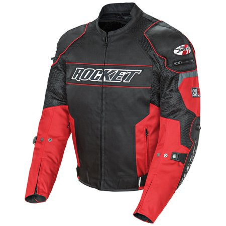 Joe Rocket Resistor Mens Red/Black Mesh Motorcycle (Joe Rocket Jordan Jackets)