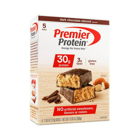 Premier Protein Bar, Dark Chocolate Almond, 30g Protein, 5 Ct