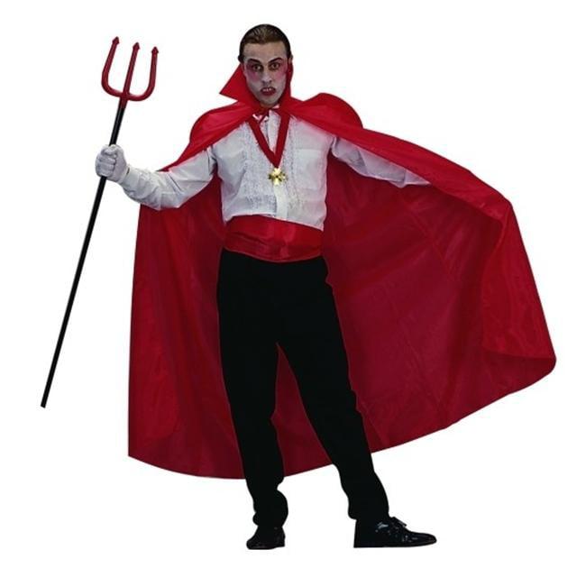 RG Costumes 75003 Red Nylon Taffeta Costume Cape - 56 Inches