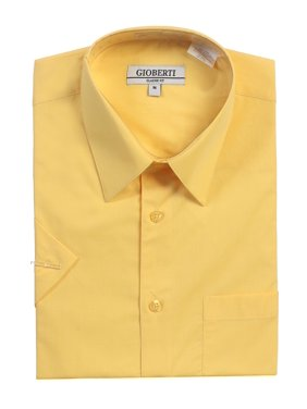 Gioberti Men's Short Sleeve Solid Dress Shirt