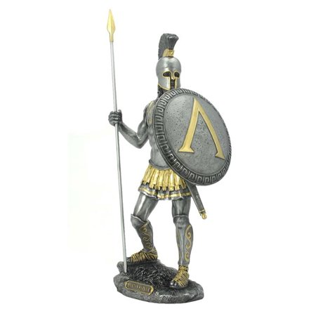 Spartan Warrior With Spear And Hoplite Shield (Mpw+Color) - Spear Spartan
