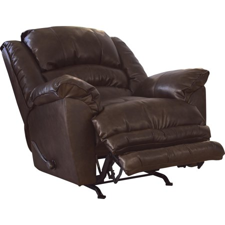Catnapper Filmore Bonded Leather Chaise Rocker Recliner in Timber