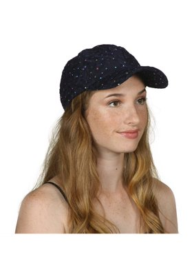 Product Image Womens Sequin Trim Baseball Cap 88a2d6d8992