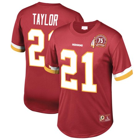 Sean Taylor Washington Redskins Mitchell & Ness Mesh Retired Player Name & Number Top - Burgundy