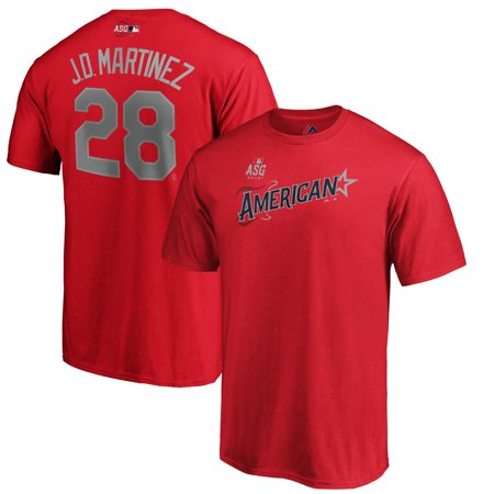 J.D. Martinez American League Majestic 2019 MLB All-Star Game Name & Number T-Shirt -