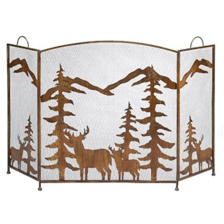 Rustic Forest Iron Fireplace Screen ()