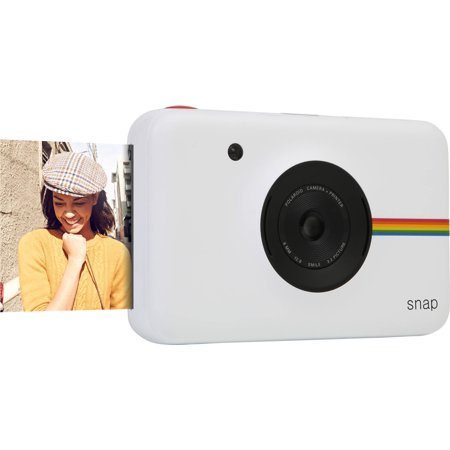 Polaroid Snap Instant Camera (White) wih ZINK Zero Ink Printing Technology