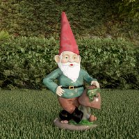 Lawn Gnome Statue-Fun Classic Style Resin Figurine for Outdoor Garden Decor-Great for Flower Beds, Fairy Gardens, Backyards and More by Pure Garden