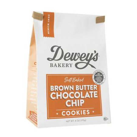 Dewey's Bakery Soft Baked Brown Butter Chocolate Chip Cookies | Baked in Small Batches | Simple Ingredients | 1Pack, 6 oz