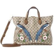 Gucci Cocoa Suede Tote Bag Brown Bag Supreme GG Handbag Italy NEW