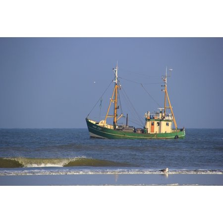 - Framed Art For Your Wall Coast North Sea Sea Fishing Boat Fishing 10x13 Frame