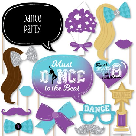 Must Dance to the Beat - Dance - Birthday Party or Dance Party Photo Booth Props Kit - 20 Count (Party City Beads)