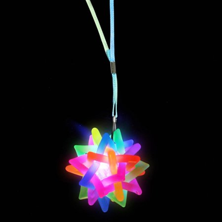 Flashing Rainbow Ball Necklace - 1 per pack