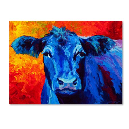 Trademark Fine Art 'Blue Cow' Canvas Art by Marion Rose