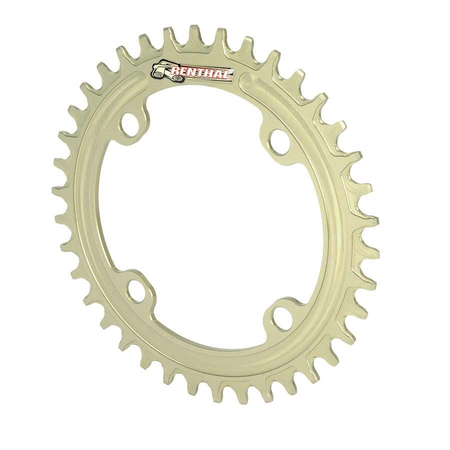 Renthal, 1XR, 34T, 9-11sp, BCD: 96, (New Shimano Pattern), Chainring, Aluminum, Gold