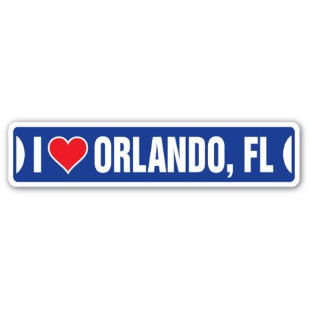 I LOVE ORLANDO, FLORIDA Street Sign fl city state us wall road d?cor gift