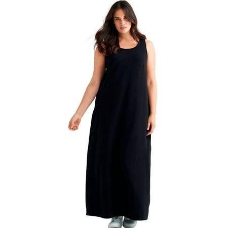 99f5c37577b74 Ellos - Plus Size Sleeveless Knit Maxi Dress - Walmart.com