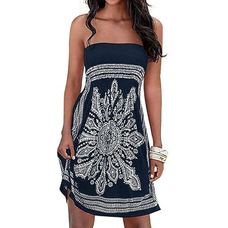 Women's Dress Bathing Suit Coverup Floral Print Bohemian Beach - Teen Beach Movie Dress Up