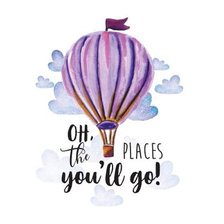 Oh the Places You Will Go: Kids Quote Journal, Mix 90p Lined Ruled 20p Dotted Grid,8.5x11 In,110 Undated Pages: Quote Journal to Write in Your Wisdom Thoughts, Plan, and Ideas for Life/ Business
