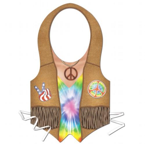 Tye Dye Plastic Hippie Vest