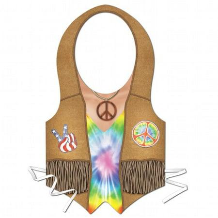 Tye Dye Plastic Hippie Vest - Dye Plastic