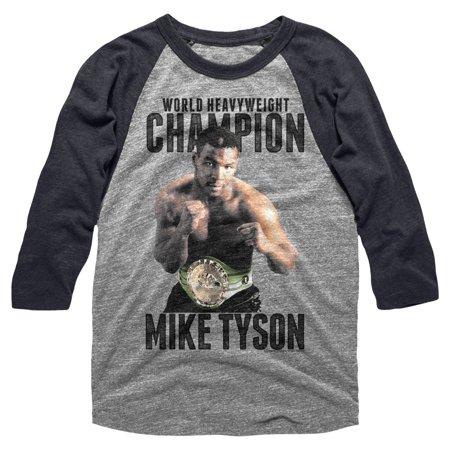 Mike Tyson Pro World Heavyweight Boxing Champion Wba Wbc Reglan Adult T Shirt