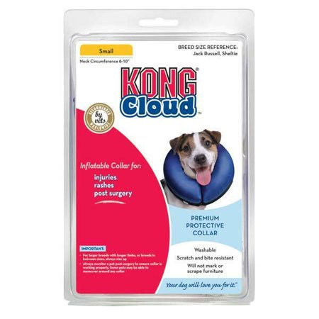 Inflatable Cloud Dog Recovery Pet Collars Blue Safety Elizabethan Alternative (Small) (Dog Cloth Collar)