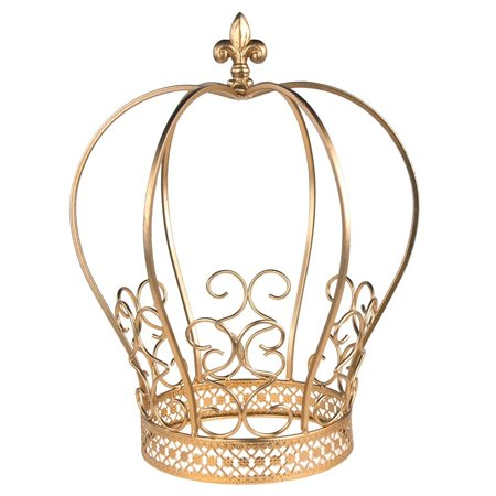 Golden Wire Metal Crown Centerpiece Cake Topper Keepsake - Wire Crown Centerpieces