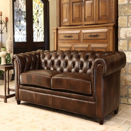 Jameson Premium Italian Leather Sofa Two Tone Chesnut Brown