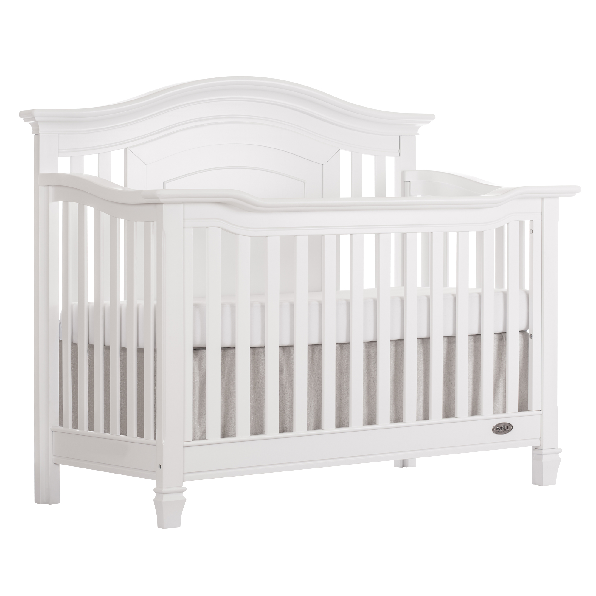 Evolur Fairbanks 5-in-1 Convertible Crib White