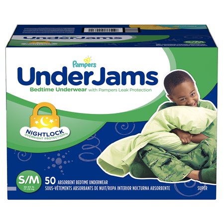 Fastest Overnight Shipping (Pampers' UnderJams Bedtime Underwear for Boys Size S/M - 50 ct. ( Weight 38- 65 lb.) - Bulk Qty, Free Shipping - Comfortable)