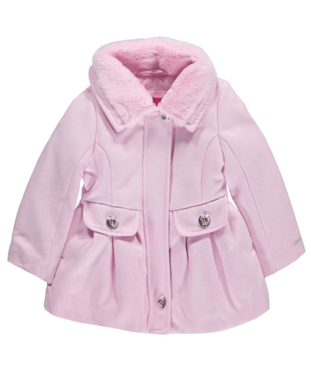 "London Fog Baby Girls' ""Glamour A-Line"" Coat"
