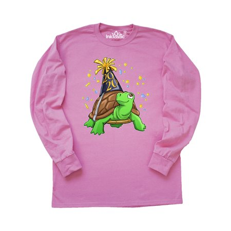 New Years Cute Turtle for 2020 Long Sleeve T-Shirt