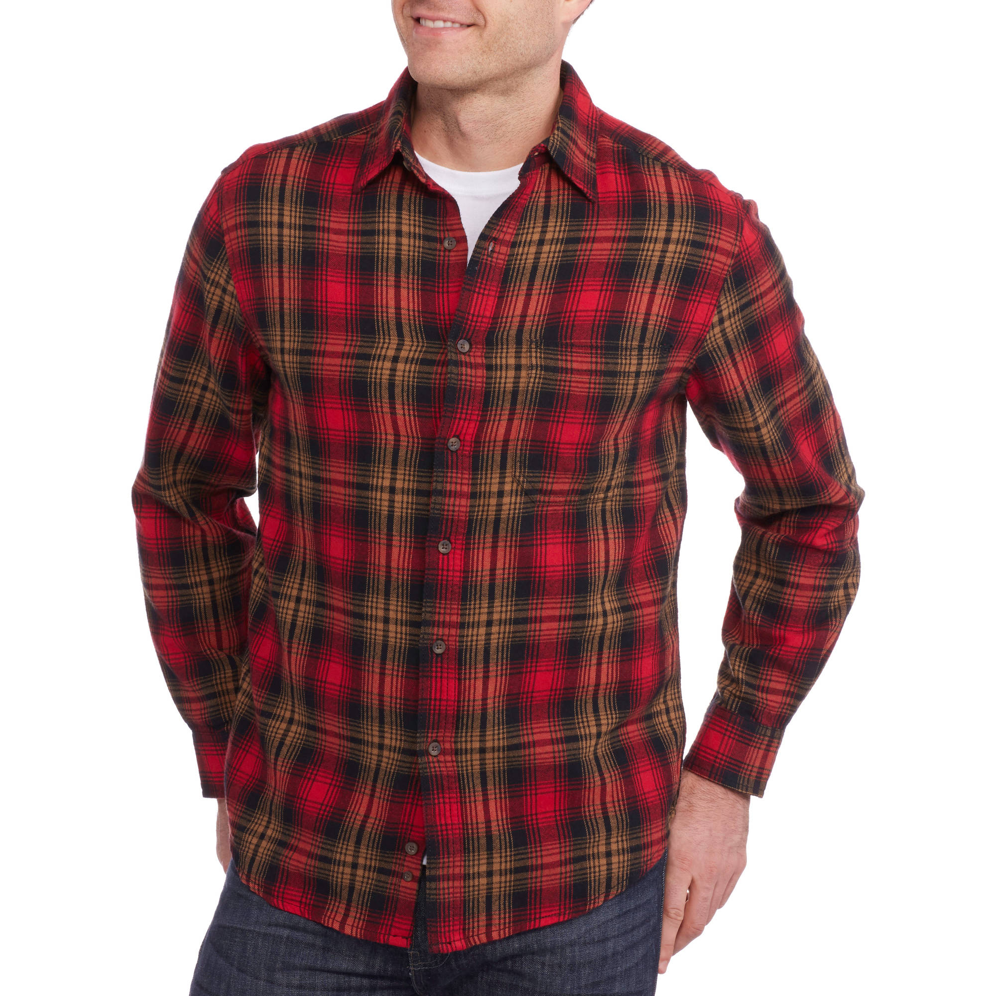Faded Glory Big Men's Flannel Shirt