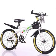 """MIUOWANP Youth Mountain Bike 20"""" Kids Bikes with Water Bottle Bag,BMX Style Frame,To and Fro School Children MTB for Outdoor Sport-Yellow"""