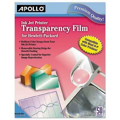 Printer Transparency Film (Apollo Inkjet Printer Transparency Film, Clear, 50 Sheets)