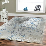 Luxury High Quality Rugs For Living Room 5x8 Cream Blue Dynamix Modern Rug 5x7 On