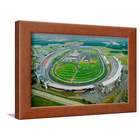 Aerial view of North Carolina Speedway in Charlotte, NC Framed Print Wall
