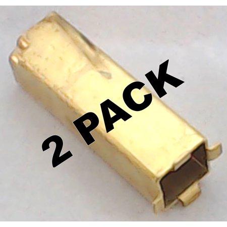 Brass Siphon Mixer (2 Pk, Stand Mixer, Motor Brush Holder, Brass, for KitchenAid, WP240680 )
