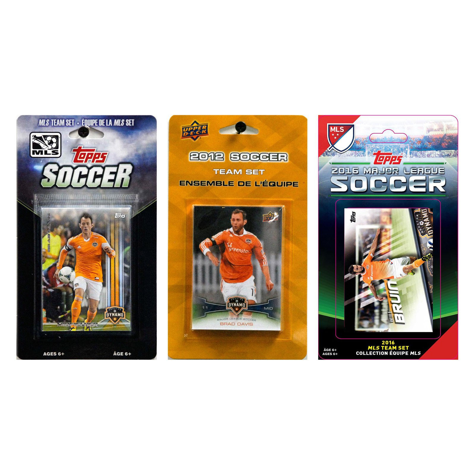 C&I Collectables MLS Houston Dynamo 3 Different Licensed Trading Card Team Sets
