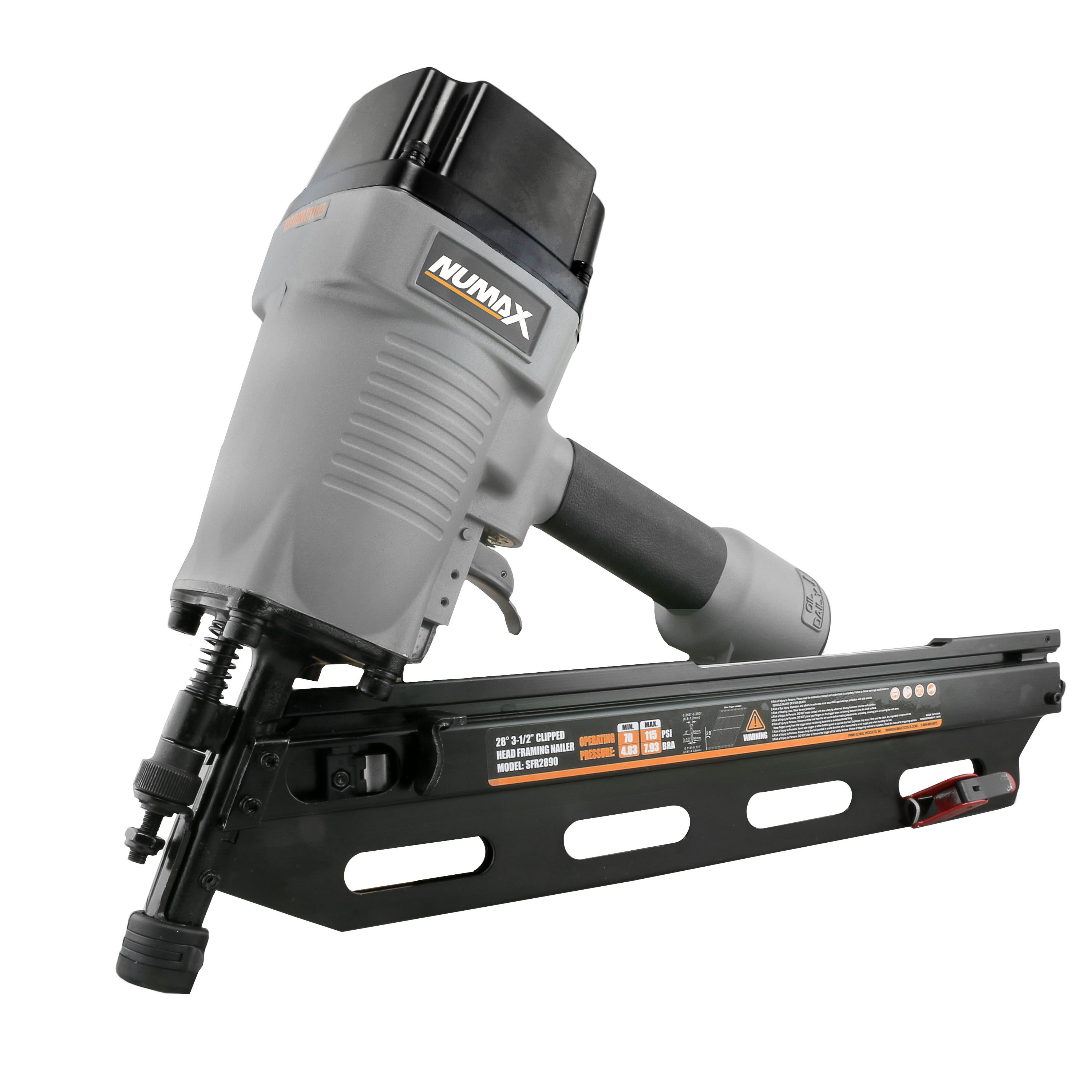 "NuMax SFR2890 Pneumatic 28 Degree 3-1/2"" Framing Nailer"