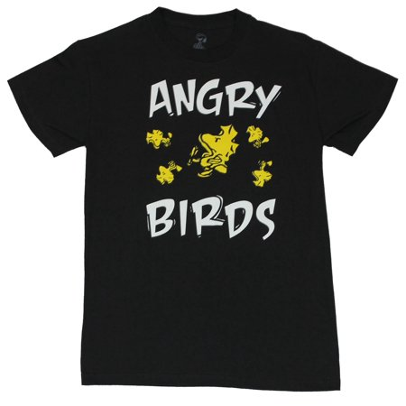 Peanuts Mens T-Shirt  - Angry Birds 5 Upset Woodstock Images](Peanuts Characters Merchandise)