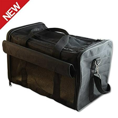 PetsNall Soft-Sided Pet Carrier Bag  Black, Airline Approved PetsNall Soft-Sided Pet Carrier Bag  Black, Airline Approved