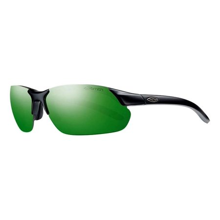 Smith Parallel Max Interchangeable Sunglasses Matte Black/Green Sol-X, One (What Is One Size In Sunglasses)